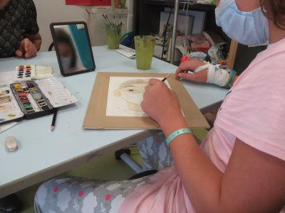 Ateliers de dessin à l'hôpital