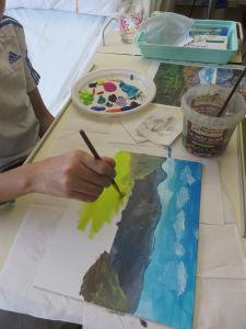Peindre les montagnes et la plaine