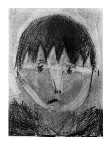 Autoportrait d'un enfant de 6 ans