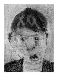 Autoportrair d'un garçon de 6 ans