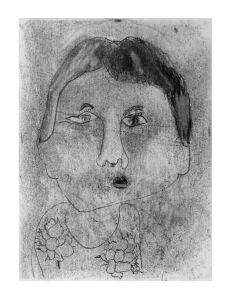 Autoportrait d'une fillette de 6 ans