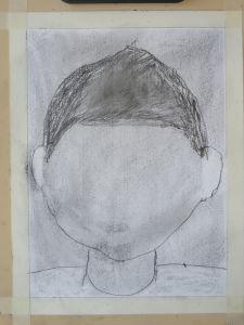 Première étape dans la réalisation d'un portrait