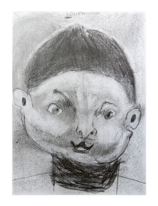 Autoportrait d'un jeune garçon
