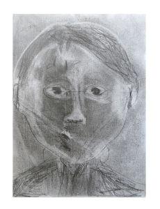 Auto portrait au crayon