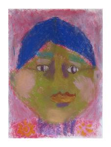 Autoportrait d'une fillette en classe de cP
