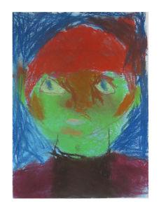 Autoportrait aux cheveux rouges