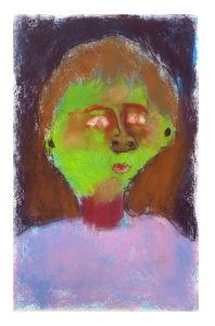 Le garçon au visage vert