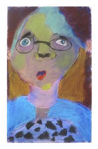 Autoportrait à la craie