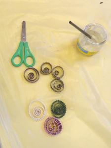 Préparation de spirales en carton ondulé