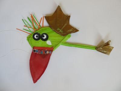 Cerf-volant qui tire la langue