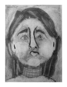 Portrait d'une fillette à l'école