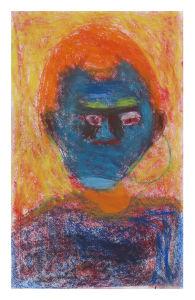 Autoportrait aux cheveux orange