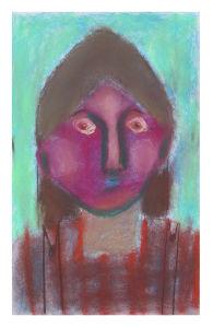 Autoportrait sur fond vert