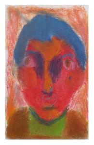 Portrait peint par un enfant