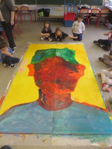 Peinture monumentale à l'école