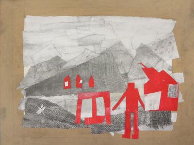 Créer un paysage en papiers collés