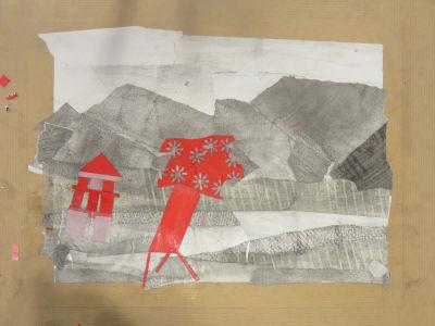 Petit paysage créé par un enfant