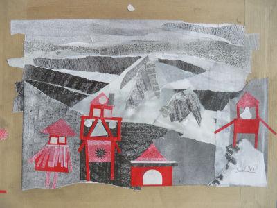 Collage réalisé par un enfant