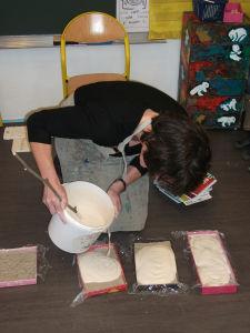 Coulage du plâtre