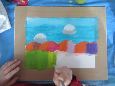 Peindre avec les enfants