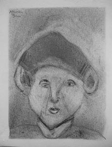 Autoportrait réalisé par un enfant de CM1