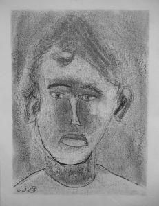 Autoportrait réalisé par un enfant