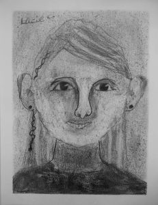 Portrait à la mine graphite