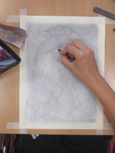 Commencer par dessiner les cheveux