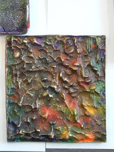 Empreinte de crépis peinte