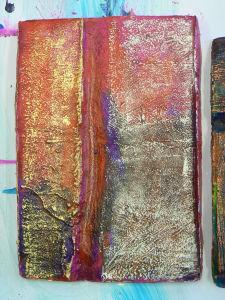 Moulage en plâtre peint et ciré