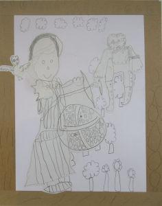 Dessin : Ulysse et Athéna