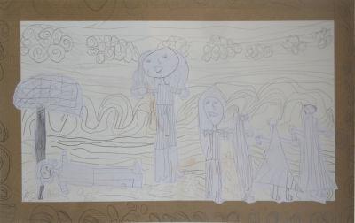Dessin : Ulysse et Nausicaa
