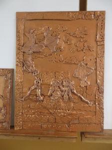 Tableau peint avec une teinte couleur bronze