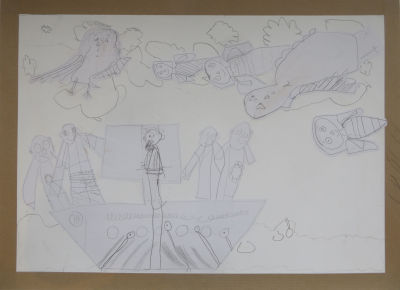 Dessin : Ulysse et les sirènes