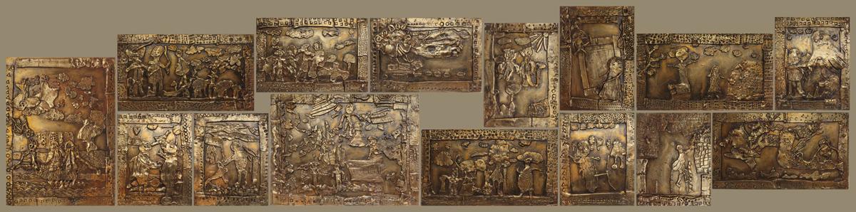 Bas-reliefs Ulysse et l'Odysée