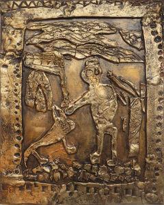 Bes-relief ciré : Ulysse et Argos