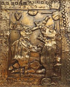 Bas-relief : Ulysse et Pénéloppe