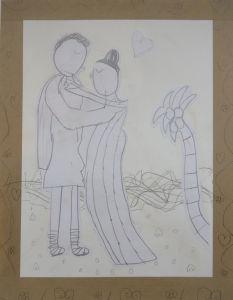 Dessin : Ulysse et Pénéloppe