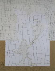 Dessin : Ulysse et la torche