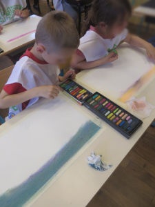 Peindre avec des craies pastel