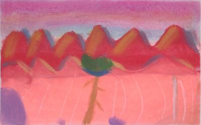 Paysage peint par un enfant