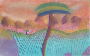 Désert bleu et palmier