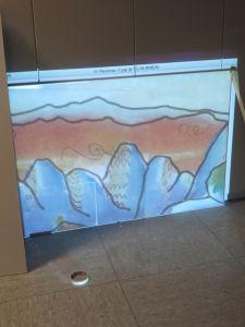 Agrandissement à l'aide du vidéo-projecteur