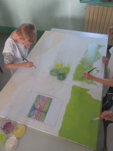 Grande peinture collective