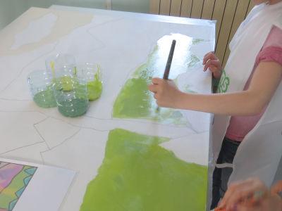 Suivre le tracé pour peindre