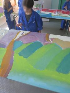 Montagnes bi-colors pour un effet de relief