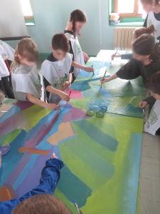 Oeuvre collective à l'école