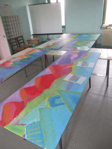 Préparation de la deuxième journée de peinture