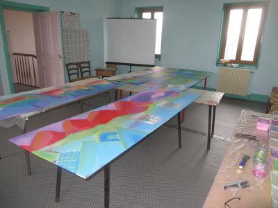 La salle où les enfants vont travailler