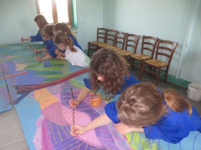 Intervention artistique dans une école
